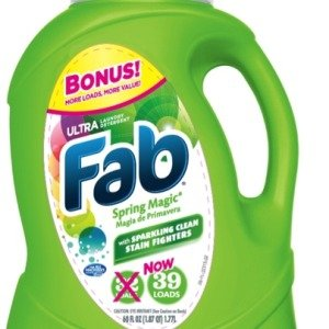 2 Pk, Ultra Fab Spring Magic Liquid Laundry Detergent, 60 fl oz by FAB