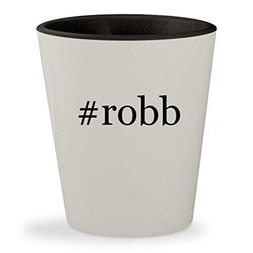 #robb - Hashtag White Outer & Black Inner Ceramic 1.5oz Shot Glass