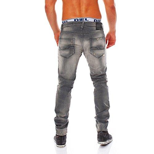 JACK & JONES Herren Jeans Hose Glenn Fox Leather Comfort BL390 Grey 2te Wahl