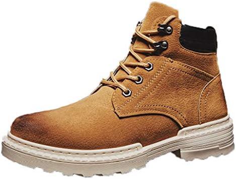 ショートブーツメンズ ショートブーツ 防寒 ブラック 耐磨耗 レトロ 防水 安定感 通勤 男女兼用 ブーツショートブーツ大きいサイズ ブーツ ワークブーツ 防寒 暖かい レッキング 防水 ハイカットチャーム