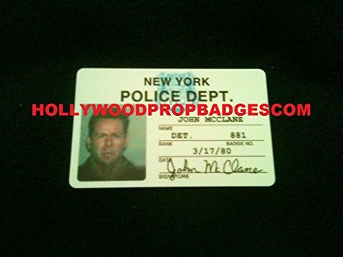 Die Hard John McClane (Bruce Willis) NYPD Replica PVC Id Card Prop