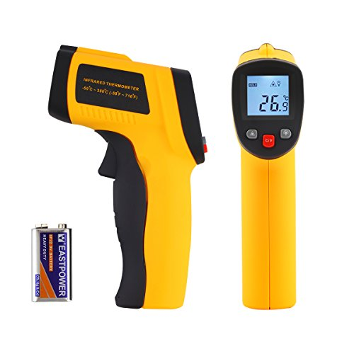 Cheap Tsing Digital Infrared (IR) Thermometer, with Laser Sight and Instant-read Temperature Gun (Battery Included)