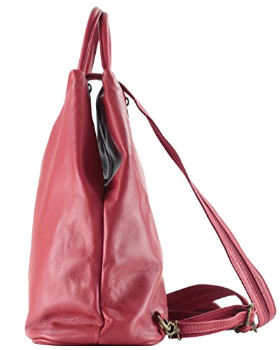 Histoiredaccessoires Fonce Backpack Sa135928rv Women's Rouge ycare Leather aYFaxr