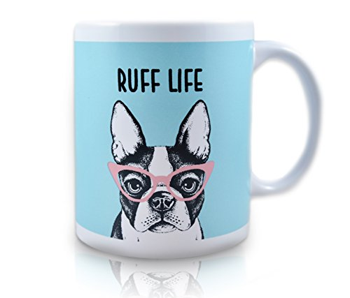 French Bulldog Ceramic Coffee Dog Mug, Novelty Ceramic Coffee Dog Mug, Funny Coffee Dog Mug - Perfect for Coffee Mug - Bulls Ceramic Mug