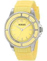 Versus by Versace Womens 3C61300000 Tokyo Yellow Dial Rubber Watch