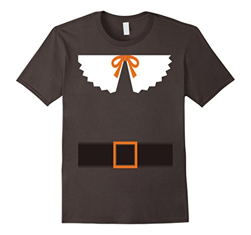 Pilgrim Outfit T-shirt Belt Collar & Bow Funny Thanksgiving