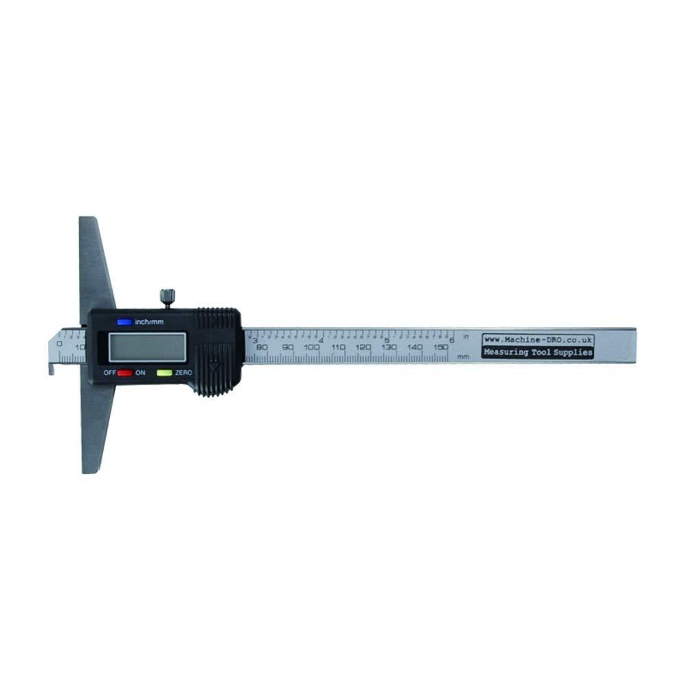 150mm 6' Digital Depth Gauge Metric and Imperial, Engineers Workshop with Hook M-DRO