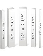 Gauge Block,Set-Up Blocks Set 5pcs Gauge Blocks High Precision with Engraved Size Markings Machinist Tool Woodworking Tool for Precise Height Distance Setup