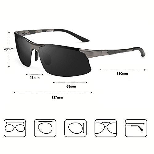 de Gafas sol de sol polarizadas SSSX A de Gafas 100 de conducción hombre Color HD para sol de Gafas A Gafas sol UV400 8qpn4wEdn