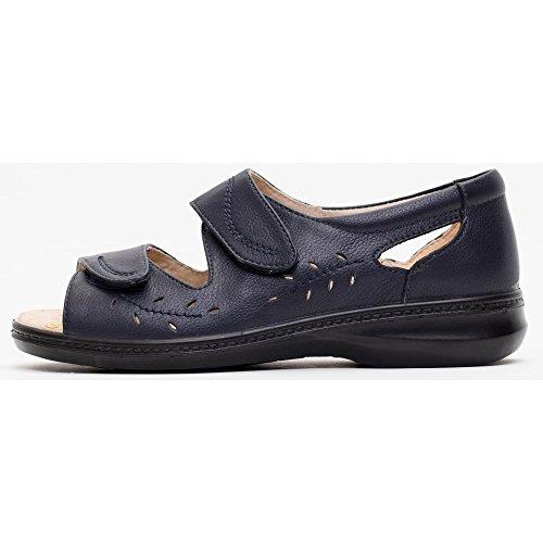 Womens Wave 2 Velcro Comfort Sandals Navy 8Iza5hP