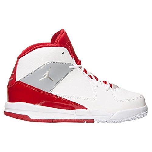 Jordan Men's Air Incline White/Metallic Silver/Gym Red/White Basketball Sneakers