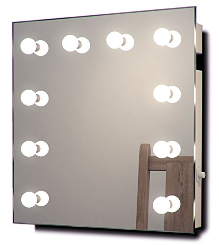 Collection Soap Wall Mount (DIAMOND X COLLECTION Diamond X Wallmount Hollywood Makeup Mirror with Dimmable LED k89WW)