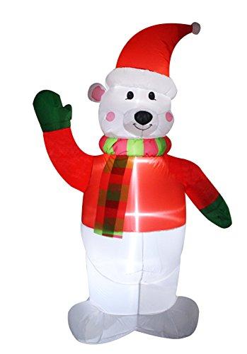 Santa's Boutique Christmas Self Inflating Illuminated Blow-Up Yard Decorations (8 Foot Polar Bear)