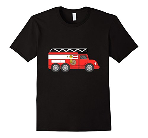 Mens Fire Truck Halloween Costume Firefighter Fireman T-Shirt XL (Firefighter Halloween Costume Men)