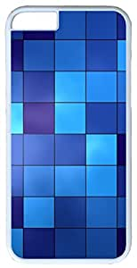 """Abstract Blue Tiles Case for iPhone 6(4.7"""") PC Material White"""