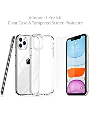 Suarvee Miracle iPhone 11 Pro 5.8 silicone clear crystal case (2019) 9H Tempered Screen Protector
