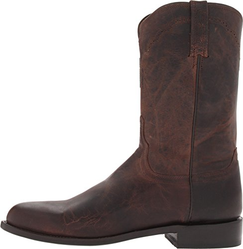 Image of Lucchese Bootmaker Men's Shane-Chocolate Madras Goat Roper Riding Boot, 11 D US