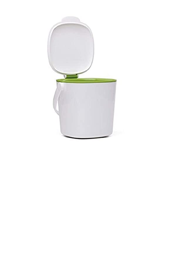 OXO Good Grips Compost Bin, 2 8 Litre, White/Green