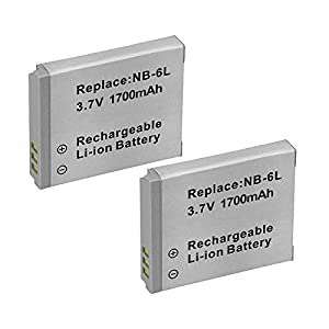 2-Pack NB-6L, NB-6LH High-Capacity Replacement Battery with Rapid Dual Charger for Select Canon Cameras - UltraPro Bundle Includes: Camera Cleaning Kit, Camera Screen Protector, Mini Travel Tripod by UltraPro