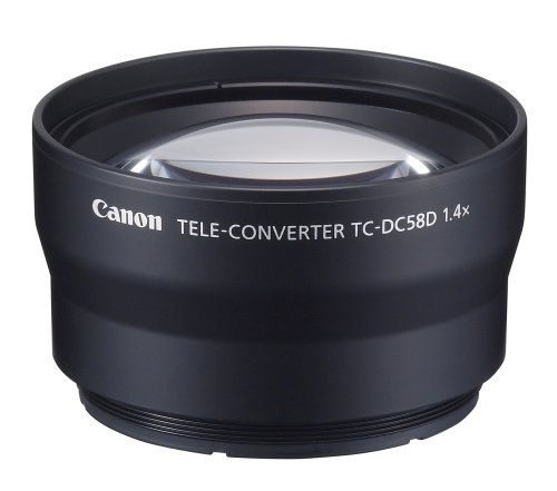 Canon TC-DC58D Tele Converter Lens for Canon G10 and G11 Digital Camera-requires LA-DC58K Lens Adapter (Canon Tc Dc58d Teleconverter)
