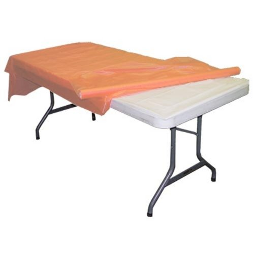 Peach plastic table roll - Peach Party Supplies