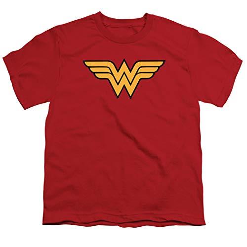 Popfunk Youth Wonder Woman Logo T Shirt for Girls (Medium) -