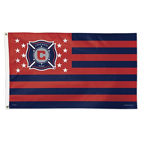 fan products of SOCCER Chicago Fire 11180215 Deluxe Flag, 3' x 5'