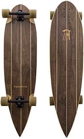 Tower Boardwalk Cruiser Pin Tail Longboard Skateboard