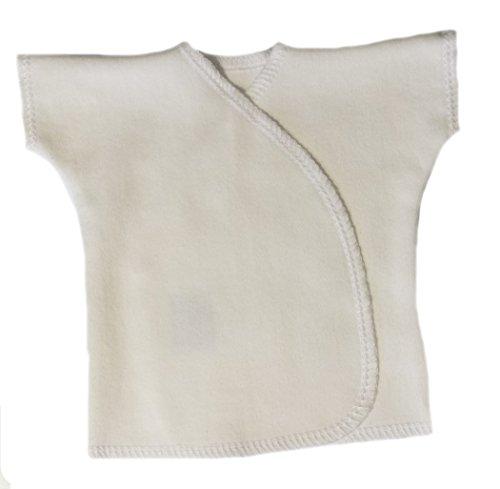 Jacqui's Unisex Baby Ivory Short Sleeve Kimono T-Shirt, Newborn
