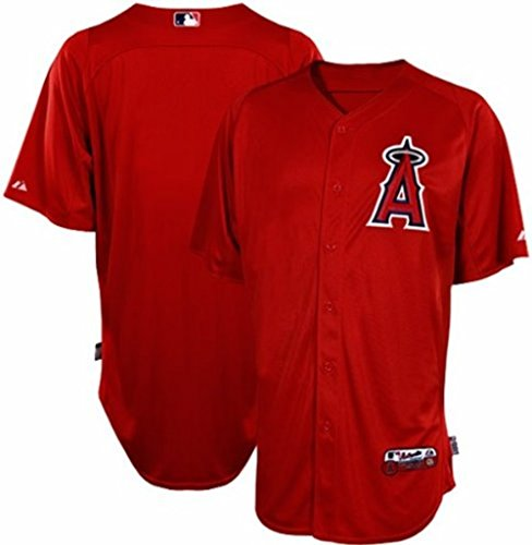 (VF Los Angeles Angels MLB Mens Batting Practice Authentic Performance Jersey Red Adult Sizes (50) )