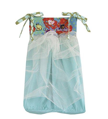 Cotton Tale Designs Lagoon Diaper Stacker, Turquoise/Purple/Orange/Green