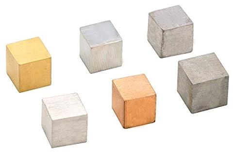 Density Cubes, Set of 6 Metals, 0.4