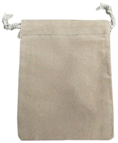 Homeford Velvet Favor Bags Pouches with Drawstrings, 3 by 4-Inch, Silver, 25-Pack