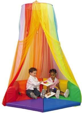 Amazon Com Constructive Playthings Rainbow Retreat Canopy
