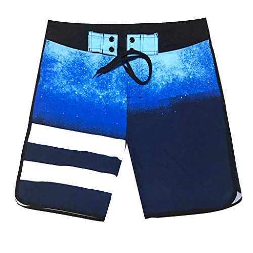 (Mens Hybrid Board Shorts,Men'S Fashion Casual Patchwork Beach Surfing Swimming Loose Short Pants)