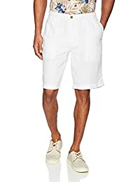 """28 Palms Mens Standard Relaxed-fit 11"""" Inseam Linen Short with Drawstring"""