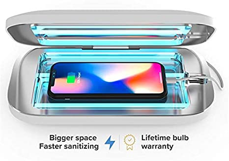 batterie int/égr/ée rasoirs lunettes Bo/îte st/érilisateur UV 99,99 /% pour smartphones c/âble USB brosses /à dents outils de maquillage manucure et autres petits objets manchons