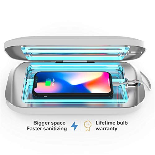 PhoneSoap Pro UV Smartphone Sanitizer & Universal Charger | Patented & Clinically Proven UV Light Disinfector | (White)
