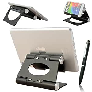 First2savvv black multi-angle Luxury Polished Stainless Steel Stand desktop dock docking station for Nokia 808 with stylus pen
