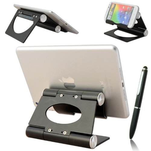 First2savvv black multi-angle Luxury Polished Stainless Steel Stand desktop dock docking station for Samsung Omnia 7 GT i8700 Apollo GT i5800 Europa GT i5500 Wave GT S8500 Omnia 2 GT i8000 Galaxy tab p1000 galaxy tab 10.1 Galaxy note Galaxy Nexus i9250 Ga by first2savvv