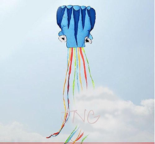 5M Octopus Foil Kite, Come with Handle & String, Beach Park Garden Playground Outdoor -