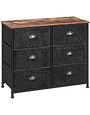SONGMICS Fabric Drawer Dresser, Wide Storage Dresser, Industrial Closet Storage Drawers ULVT23HV1