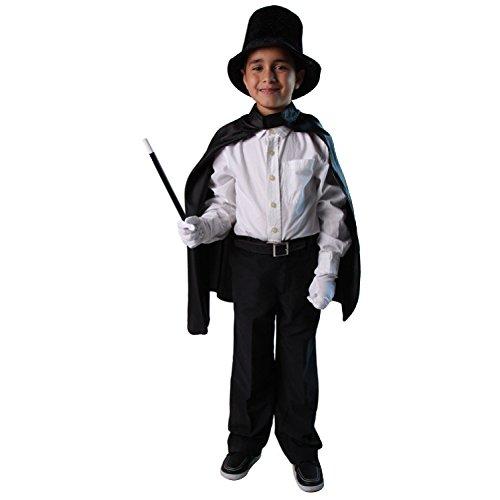 Kids Basic Magician Costume Kit - Cape, Hat, Wand, Gloves ()
