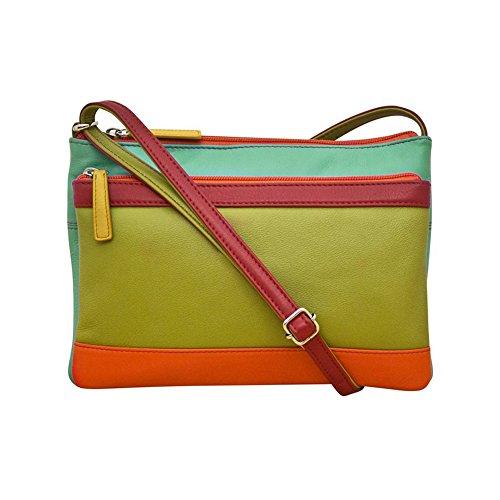 Handbag Multi 6028 ili Leather body Compartment Citrus Cross vTYvE4qw