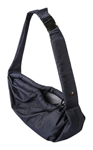 Amazon.com : Camon Italy Pet Sling Pooch Pouch Denim Shoulder Bag ...