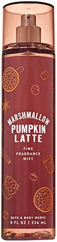 Bath and Body Works MARSHMALLOW PUMPKIN LATTE Fine Fragrance Mist 8 Fluid Ounce (2019 Edition)
