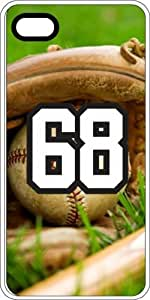 Baseball Sports Fan Player Number 8 White Rubber Decorative iphone 4s Case