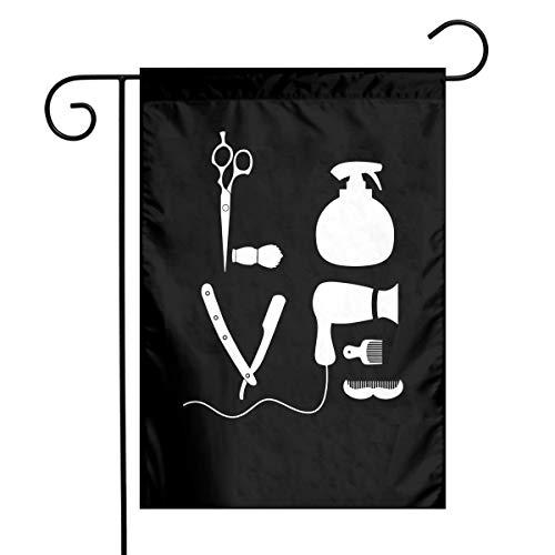 BARBER SALON HAIRDRESSER LOVE Funny Outdoor/Home Decorative Flag Gift Garden Flag 12