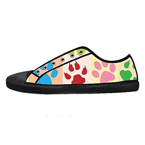 da Traspirante Canvas Top Sneaker Orma Nero con Design Low Flat CHEESE Scarpe Donna Personalizzato Chiusura Classico Lacci 5wxOqp8