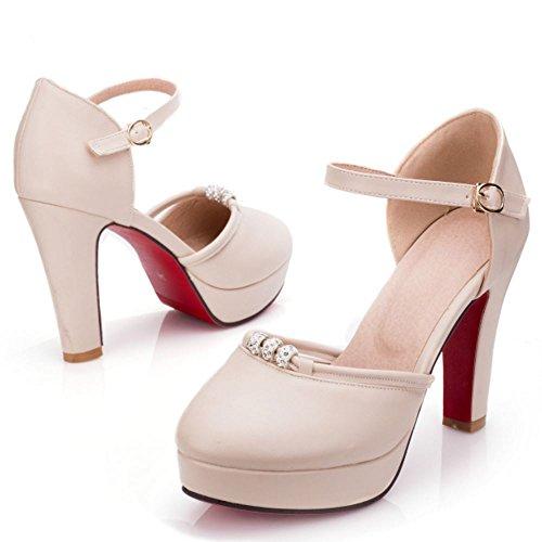 Sandalias Mujer Plataforma Zanpa Beige Dulce 4Yax8